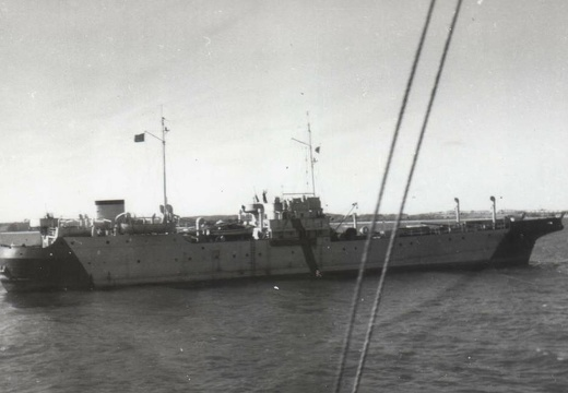 The Netlayer IV ex MV Najade in March 1944 in the Kieler Förde.