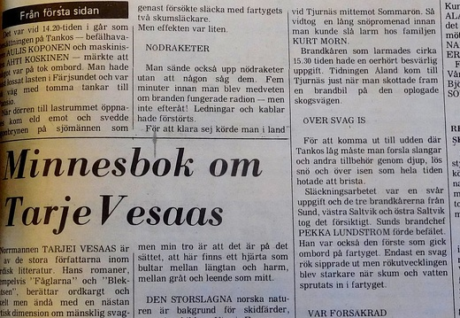 TANKOS, newspaper story